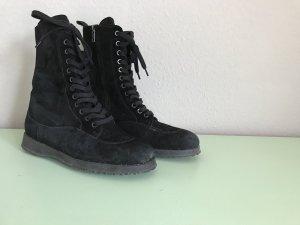 Hogan Lace-up Boots black leather