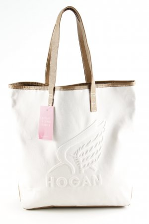 Hogan Canvas Bag nude-bronze-colored themed print casual look