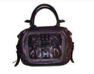 Hogan Tasche Handtasche Tote Bag lila violett Leder Echtleder Lackleder neu OVP