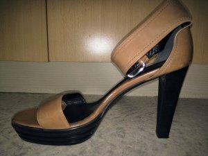 Hogan Plateauzool sandalen lichtbruin-beige Leer