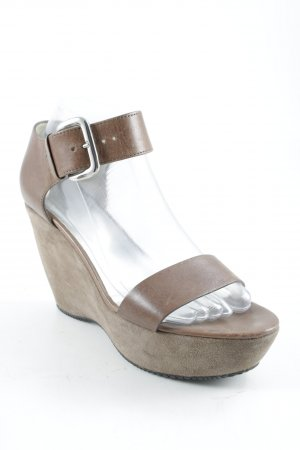 Hogan Wedges Sandaletten braun Casual-Look