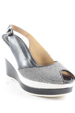 Hogan Wedge Sandals weave pattern Boho look