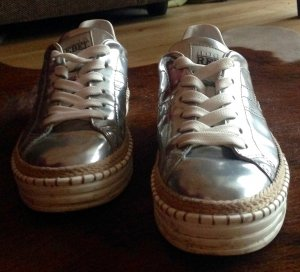 Hogen Rebel Sneaker silber Kord Plattform