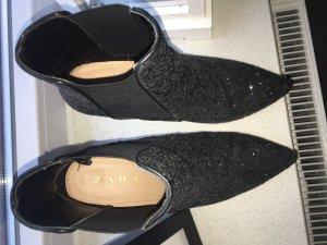 Hohe Glitzer Schuhe
