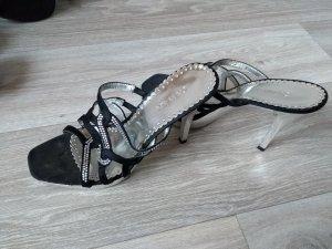 Catwalk High Heel Sandal black-silver-colored