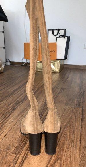 Zara Basic High Heel Boots brown-light brown