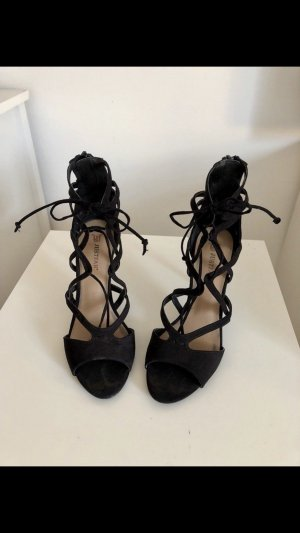 Sandalias de tacón de tiras negro