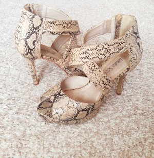 Hohe Sandalen / high heels, Schlangen- optik, muster, print, Größe 39