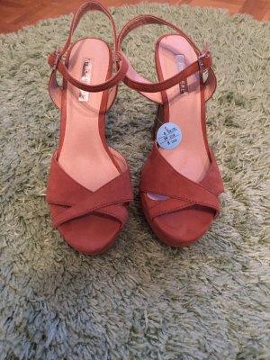 High Heel Sandal brown-cognac-coloured