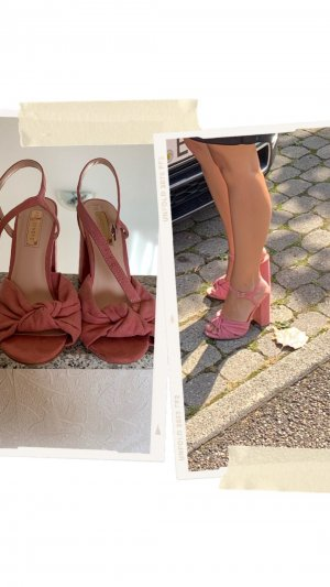 Atmosphere Strapped High-Heeled Sandals pink