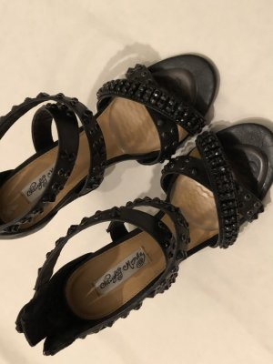 High Heel Sandal black-dark grey