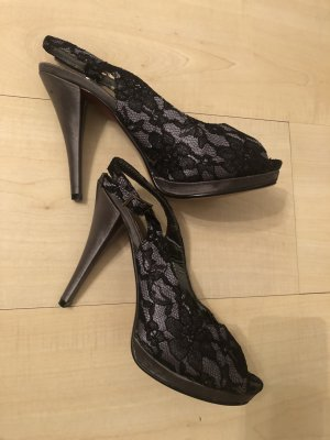 High Heel Sandal black-grey