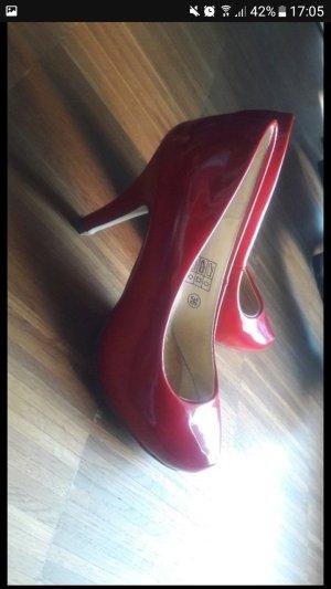 Hohe Schuhe, Größe 36, schönes knall Rot
