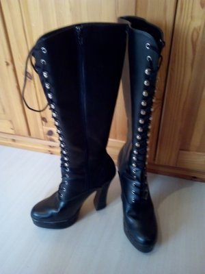 Pleaser Gothic Boots black imitation leather