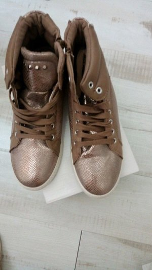 hohe sneakers bronze-braun in 41