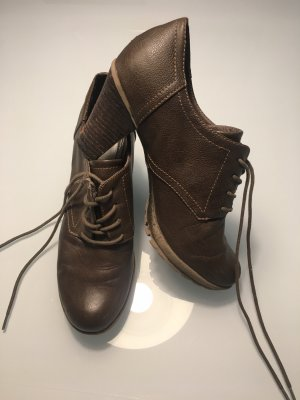 s.Oliver Lace-up Booties grey brown