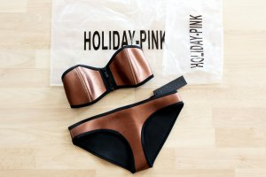 Holiday Pink Neopren Bikini Bronze XS 34