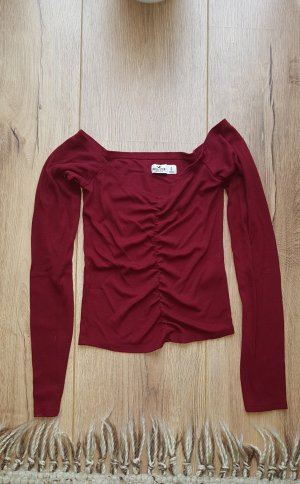 Hollister Off the shoulder top karmijn