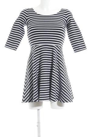 Hollister A-Linien Kleid wollweiß-dunkelblau Streifenmuster Casual-Look