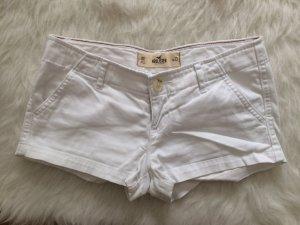 Hollister Abercrombie A&F Hotpants Shorts Kurze Hose Jeans Weiß XS 34