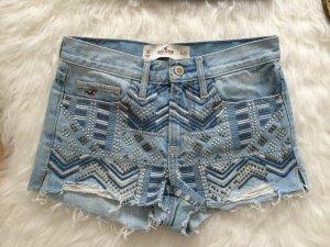 Hollister Abercrombie A&F Jeans Shorts Denim Hotpants Kurze Hose Blau XS 34