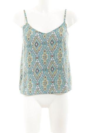 Hollister ärmellose Bluse abstraktes Muster schlichter Stil