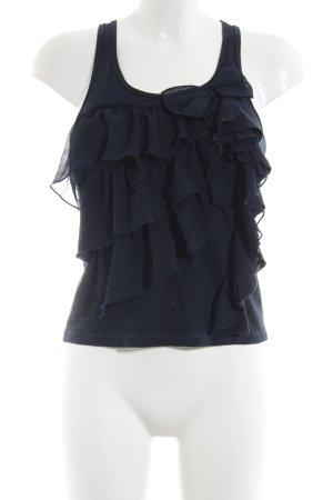 Hollister ärmellose Bluse dunkelblau schlichter Stil