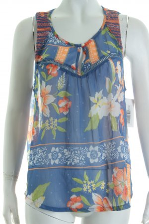 Hollister ärmellose Bluse florales Muster Hippie-Look