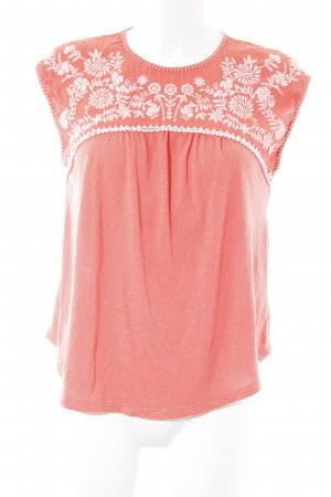 Hollister ärmellose Bluse lachs-weiß Blumenmuster Casual-Look