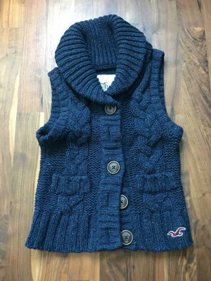 Hollister ärmellose Strickjacke in dunkelblau
