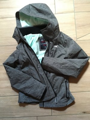 Hollister All-Weather Jacket Stretch Jacke Übergangsjacke Größe M grau türkis