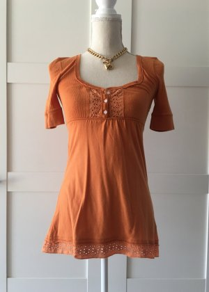 Hollister Babydoll Oberteil S Orange