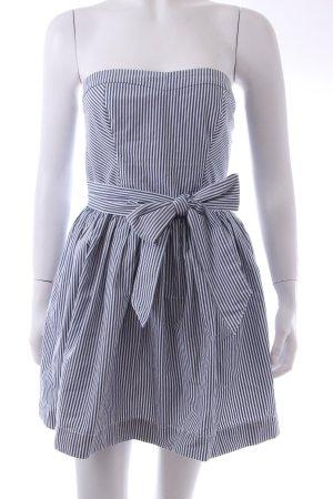 Hollister Vestido bandeau azul-blanco Algodón
