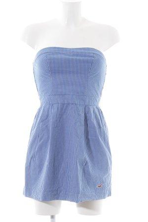 Hollister Abito a fascia blu-bianco motivo a righe stile da moda di strada