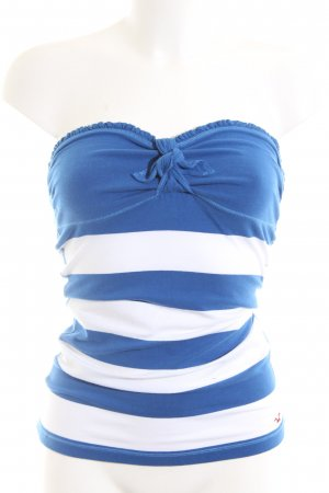 Hollister Bandeau Top blue-white striped pattern casual look