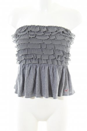 Hollister Bandeau Top light grey flecked casual look