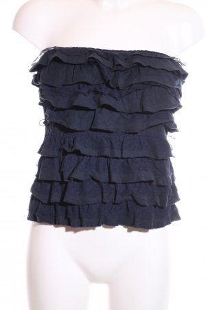 Hollister Bandeau top blauw casual uitstraling
