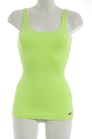 Hollister Basic Top grün Casual-Look