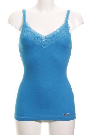 Hollister Basic Top neonblau Casual-Look