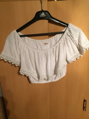 Hollister Cropped shirt wit