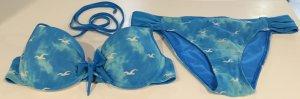 Hollister Bikini hellblau/weiß Wolkenmuster Perfekt für den kommenden Sommer!