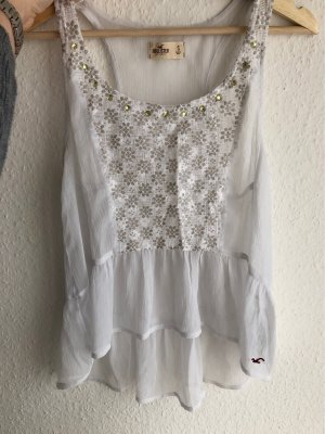 Hollister Ruche blouse wit