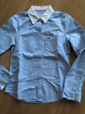 Hollister Blouse à manches longues bleu azur-blanc