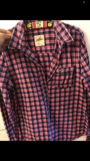Hollister Cols de blouses rose-bleu