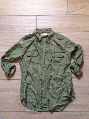 Hollister Bluse Hemd Größe S khaki oliv