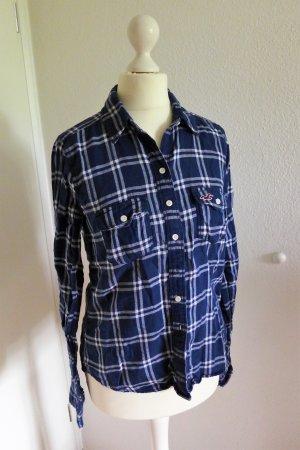 Hollister Bluse Hemd Holzfäller Karo blau weiß Gr. S wie neu