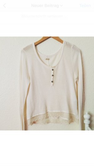 Hollister Bluse in Creme
