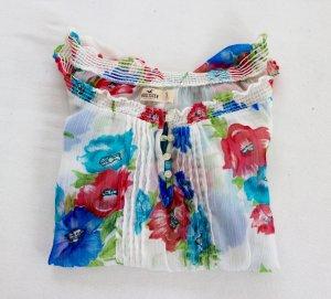 Hollister bluse mit Blumen