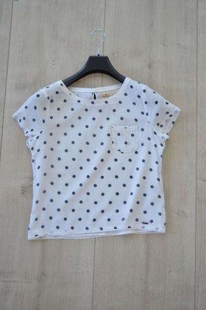 Hollister Bluse mit Punkten weiß Größe S
