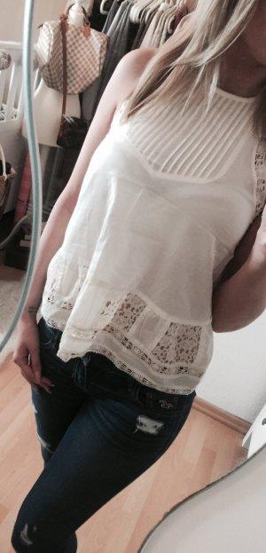 Hollister Bluse Spitze Shirt Top NEU Gr.XS
